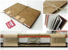 as papeleiras: caderno rústico!