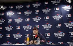 St. Louis Cardinals manager Mike Matheny answers a question at news conference before Game 6 of baseball's World Series against the Boston Red Sox Wednesday, Oct. 30, 2013, in Boston. (AP Photo/Chris Carlson)