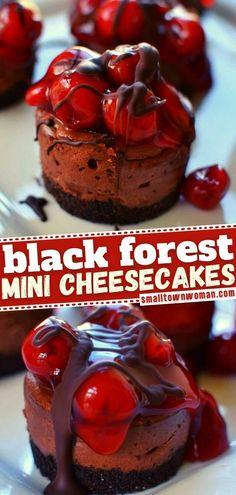 Mini Cheesecake Recipes, Homemade Cheesecake, Mini Desserts, Christmas Desserts, Chocolate Desserts, Easy Desserts, Delicious Desserts, Fluff Desserts, Brownie Recipes