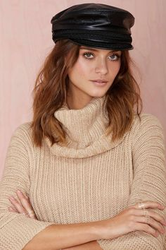 Nona Leather Fisherman Hat