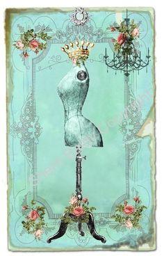Vintage The Dress Designer Fabric Block