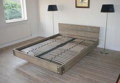 Vinyl Steigerhout Look : Steigerhout bed zwevend gussta bed bedrooms