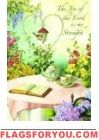 The Joy Of The Lord Garden Flag Joy Of The Lord, House Flags, Garden Flags, Place Cards, Place Card Holders, Inspirational, Decor, Decoration, Decorating