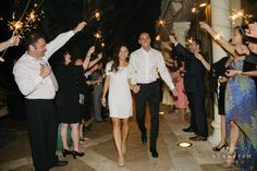 Second wedding dress for late night dance party and sparkler exit!