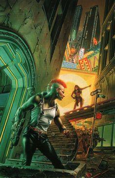 Art from Cyberpunk 2020 Cyberpunk 2020, Art Cyberpunk, Cyberpunk Character, Science Fiction, Dreamland, Samurai, Steampunk, Bd Comics, Shadowrun