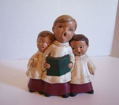 Vintage Christmas Carolers Figurine Zavoy Mold Musical Wind Up Merry Christmas | eBay