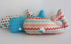 baleia http://www.atelier-cherry.com/2012/08/baleia-em-tecido.html