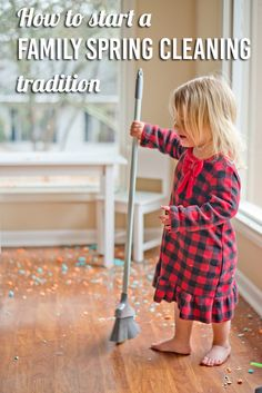 Good Idea: Start a Family Spring Cleaning Tradition - Modern Parents Messy Kids #kidschores #springcleaning #familyspringcleaning #cleaningforfamilies