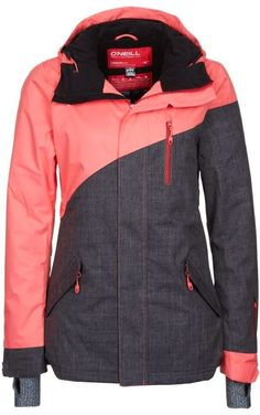 Comfy Coral And Dark Gray Combo O'Neil Snow Jacket