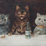 Louis Wain pintó gatos de forma antropomórfica, los plasmó en todas sus formas, expresiones, tamaños y colores cuando padeció esquizofrenia