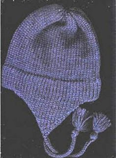 Ravelry: Free Pattern for child's earflap hat on the midgauge by Mar Heck