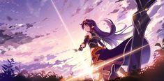 re 388676 konno_yuuki kyokucho pointy_ears sword sword_art_online. Sword Art Online Weapons, Sword Art Online Yuuki, Kunst Online, Online Art, Fanarts Anime, Anime Characters, Sinon Ggo, Sword Art Online Wallpaper, Accel World