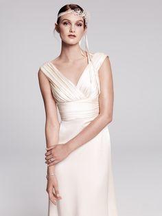 Caroline DeVillo 'Eva', simple and stunning silk charmeuse gown