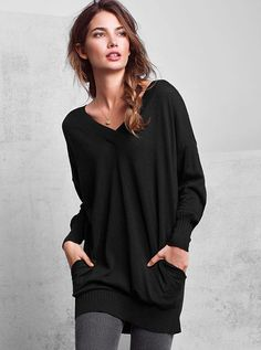 Black Off-Shoulder Asymmetrical-Hem Tunic | Barbs favorites ...