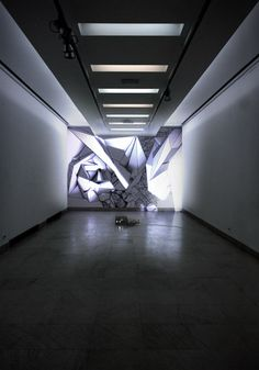 Pencil, marker pen, projected light.  April 2012, Share conference, Belgrade, Serbia.