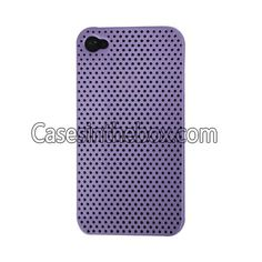 Purple Unique Breathing Hole Design Hard Plastic Back Case Cover for Iphone 4/4S US$1.99