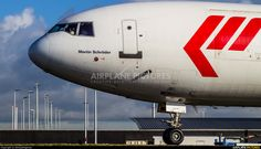 High quality photo of Martinair Cargo McDonnell Douglas MD-11F by DennyRingenier. Visit Airplane-Pictures.net for creative aviation photography.