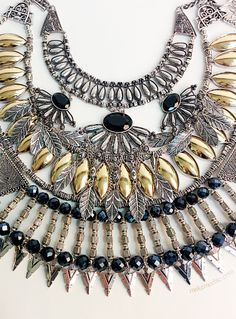 Layer up on statement necklaces!