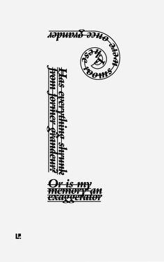 Past #ConcretePoetry #CaffeineAndConcrete #Typography