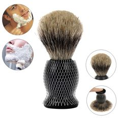 Professional Men's Barber Face Wood Handle Nylon Cleaning Razor Shaving Brush Tool Shaving Clearance Beard Brush #Affiliate