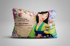 "Cute Mulan Disney Quote Flower Custom Design Pillow Case 16""x24"" Limited Edition #Unbranded #pillowcase #pillowcover #cushioncase #cushioncover #best #new #trending #rare #hot #cheap #bestselling #bestquality #home #decor #bed #bedding #polyester #fashion #style #elegant #awesome #luxury #custom #mulan #disney #cartoon"