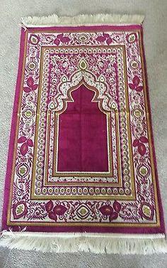 Islamic Prayer Mat Good Quality Turkish 500gram janamaz muslim prayer rug pink
