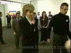 Princess Diana visits homeless shelter