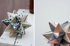 Selvlaget pynt: Modulær origami-stjerne