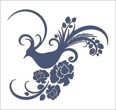 Pheasant Bird   STENCIL Design availabe in 6 por SuperiorStencils                                                                                                                                                                                 Más