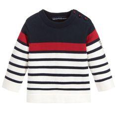 Week-end à la mer Baby Boy Knitting Patterns, Baby Sweater Knitting Pattern, Baby Knitting, Mens Fashion Sweaters, Sweater Fashion, Cotton Sweater, Men Sweater, Sweater Shop, Boys Sweaters