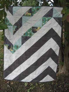 Chevron Baby Quilt by FarmFreshPicked on Etsy, $85.00