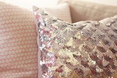 sequined pillow