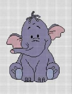 FREE PATTERN GRAPH WHEN YOU BUY 2 SEE DESCRIPTION. BOYS GIRLS BABY TOO CUTE ELEPHANT CROCHET PATTERN GRAPH AFGHAN BLANKET CROSS STITCH CHAR