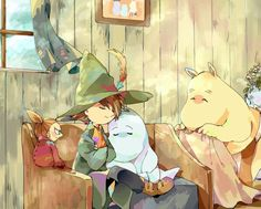 sarroora:Another gorgeous Moomins fanart by the amazing餅粉
