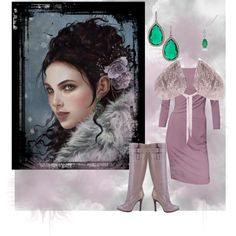 purple winter, created by cristina1207 on Polyvore