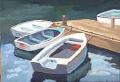 Maine boats 9x12 acrylic. Sold