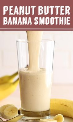 Peanut Butter Banana Smoothie- this Peanut Butter amp; Banana Smoothie is my go to healthy breakfast that takes just a few minutes to throw together and tastes like ice cream :D Weight Loss Smoothies, Healthy Smoothies, Healthy Drinks, Healthy Recipes, Healthy Food, Healthy Weight, Diet Drinks, Protein Smoothie Recipes, Green Smoothies