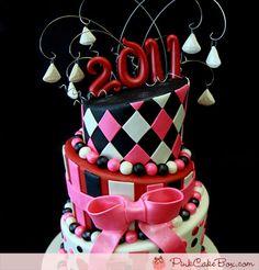 Crimson Graduation Cake by Pink Cake Box in Denville, NJ.  More photos at http://blog.pinkcakebox.com/crimson-graduation-cake-2011-06-13.htm  #cakes