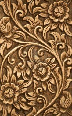 10763123-pattern-of-flower-carved-on-wood-background.jpg (747×1200)