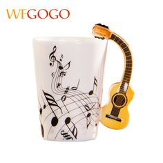 WFGOGO Ceramic mugs Cup Creative Music Note Milk Juice Lemon Mug Coffee Tea Cup fiddle Home Office Drinkware Unique Gift. Yesterday's price: US $40.84 (33.61 EUR). Today's price: US $13.48 (11.07 EUR). Discount: 67%.
