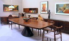 Jorge Zalszupin Guanabara table in jacaranda rosewood. Brazil 1960's