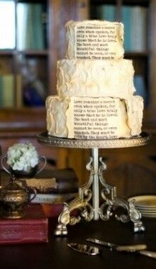 My Favorite Thing On A Cake... BOOKS