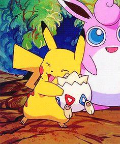 Ash's Pikachu ^.^ <3 Misty's Togepi ^.^ <3