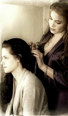 "Rosalie doing Bella's hair for the wedding. ""Breaking Dawn Part 1"""