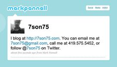 All the info you need in 140 characters or less, plus you know he is a great Tweeter, since that's what his business card is centered on. Very unique.