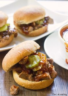 Dr Pepper Brisket Sliders with Dr Pepper Barbecue Sauce