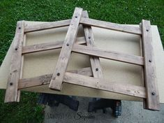arhaus inspired diy end table, diy, how to, painted furniture, rustic furniture
