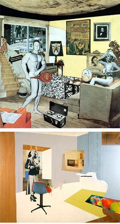 Pop art collage called 'Just what is it that makes today's homes so different, so appealing? 1956 by Richard Hamilton is one of the earliest pieces labeled Pop Art. Hamilton died in Robert Rauschenberg, Jasper Johns, Collage Foto, Art Du Collage, Collage Collage, Digital Collage, Cultura Pop, Andy Warhol, Photomontage