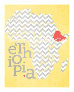 ethiopia print