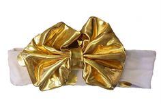 Headband (Gold Bow)